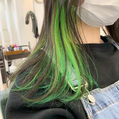 アンニュイほつれヘア ロング ダブルカラー ナチュラル ヘアスタイルや髪型の写真・画像
