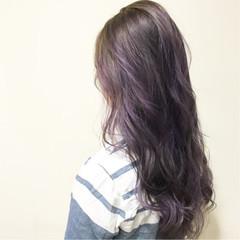 ロング グラデーションカラー ハイトーン 外国人風 ヘアスタイルや髪型の写真・画像