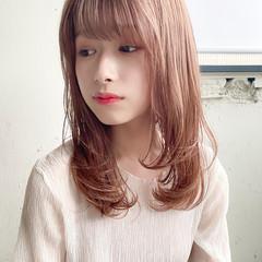 縮毛矯正ストカール デート フェミニン セミロング ヘアスタイルや髪型の写真・画像