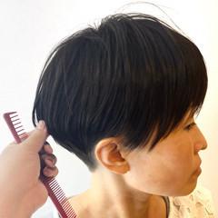 ウルフカット ショート インナーカラー ベリーショート ヘアスタイルや髪型の写真・画像