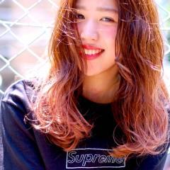 セミロング ナチュラル おフェロ 春 ヘアスタイルや髪型の写真・画像