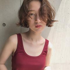 ショートボブ ボブ 切りっぱなしボブ 透明感 ヘアスタイルや髪型の写真・画像