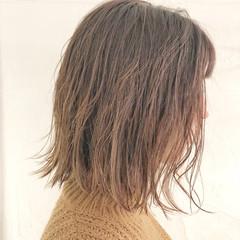 アンニュイほつれヘア ボブ デート オフィス ヘアスタイルや髪型の写真・画像