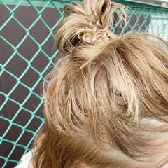 ベージュ 透明感カラー 簡単ヘアアレンジ ヘアアレンジ ヘアスタイルや髪型の写真・画像