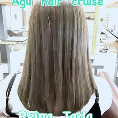 大人かわいい フェミニン アッシュ 透明感 ヘアスタイルや髪型の写真・画像