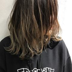 バレイヤージュ 外国人風カラー アンニュイほつれヘア グラデーションカラー ヘアスタイルや髪型の写真・画像