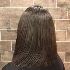 黒髪 ストレート パーマ ナチュラル ヘアスタイルや髪型の写真・画像