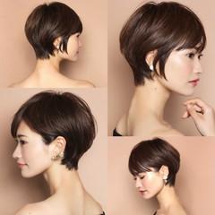大人ヘアスタイル ナチュラル ショートヘア ショート ヘアスタイルや髪型の写真・画像