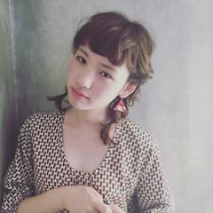 ガーリー ミディアム 簡単ヘアアレンジ ヘアアレンジ ヘアスタイルや髪型の写真・画像