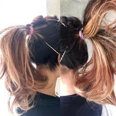 黒髪 ニュアンス ロング ミルクティー ヘアスタイルや髪型の写真・画像