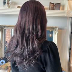 フェミニン ブリーチオンカラー ラベンダーグレージュ ロング ヘアスタイルや髪型の写真・画像