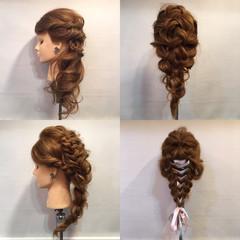 エレガント ヘアアレンジ 編み込み 結婚式 ヘアスタイルや髪型の写真・画像