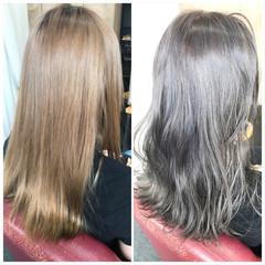 透明感カラー セミロング 圧倒的透明感 フェミニン ヘアスタイルや髪型の写真・画像