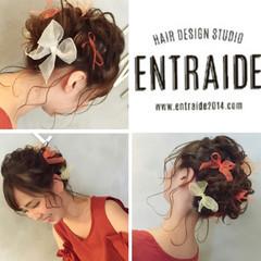 無造作 ヘアアレンジ ゆるふわ ヘアアクセ ヘアスタイルや髪型の写真・画像