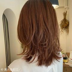 ウルフレイヤー 外国人風カラー ゆるふわ 大人ハイライト ヘアスタイルや髪型の写真・画像