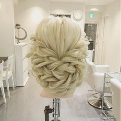 外国人風 結婚式 ヘアアレンジ ロング ヘアスタイルや髪型の写真・画像