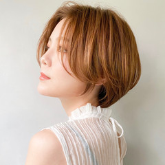 大人かわいい ショート ナチュラル アンニュイほつれヘア ヘアスタイルや髪型の写真・画像