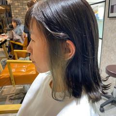 ミディアム ナチュラル インナーカラー ダメージレス ヘアスタイルや髪型の写真・画像