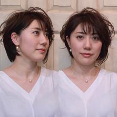 フェミニン 春 ボブ 前髪あり ヘアスタイルや髪型の写真・画像