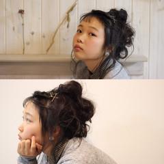 セミロング 外国人風 ショート ヘアアレンジ ヘアスタイルや髪型の写真・画像