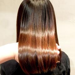 ナチュラル 艶髪 美髪 うる艶カラー ヘアスタイルや髪型の写真・画像