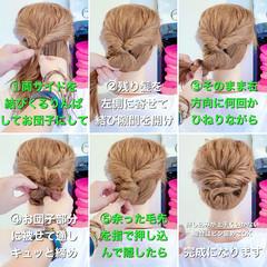 くるりんぱ ヘアセット ヘアアレンジ 簡単ヘアアレンジ ヘアスタイルや髪型の写真・画像