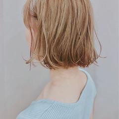 ゆるふわ 無造作 ボブ アンニュイ ヘアスタイルや髪型の写真・画像