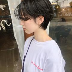 ベリーショート ショートヘア マッシュ ナチュラル ヘアスタイルや髪型の写真・画像