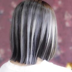 ブリーチ エレガント バレイヤージュ ボブ ヘアスタイルや髪型の写真・画像