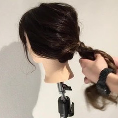 ショート セミロング ヘアアレンジ 時短 ヘアスタイルや髪型の写真・画像