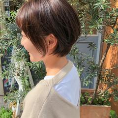 艶髪 ショート ナチュラルブラウンカラー 髪質改善トリートメント ヘアスタイルや髪型の写真・画像