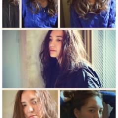 ロング くせ毛風 ストリート 外国人風 ヘアスタイルや髪型の写真・画像