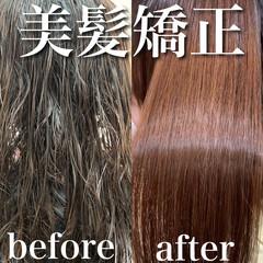 髪質改善トリートメント 縮毛矯正名古屋市 サラサラ ロング ヘアスタイルや髪型の写真・画像