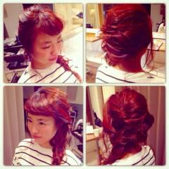 モテ髪 ゆるふわ ヘアアレンジ ショート ヘアスタイルや髪型の写真・画像