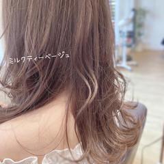 透明感 透明感カラー ガーリー ロング ヘアスタイルや髪型の写真・画像