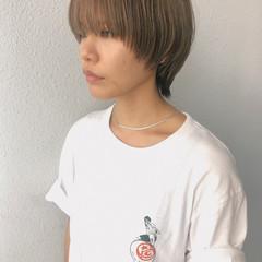 ウルフ マッシュウルフ マッシュショート ショート ヘアスタイルや髪型の写真・画像