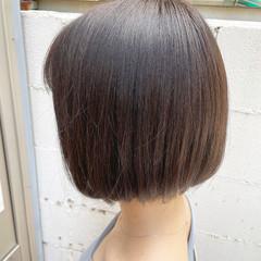小顔ヘア ショートボブ ミニボブ ナチュラル ヘアスタイルや髪型の写真・画像