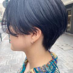 ショートボブ ナチュラル ハンサムショート ミニボブ ヘアスタイルや髪型の写真・画像