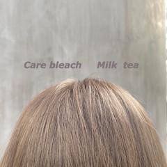 ミルクティーベージュ 切りっぱなしボブ ロング ナチュラル ヘアスタイルや髪型の写真・画像