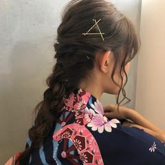 ヘアアクセ 和装 ヘアアレンジ 花火大会 ヘアスタイルや髪型の写真・画像
