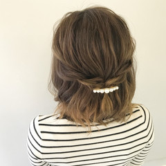 ヘアアレンジ ナチュラル リラックス デート ヘアスタイルや髪型の写真・画像