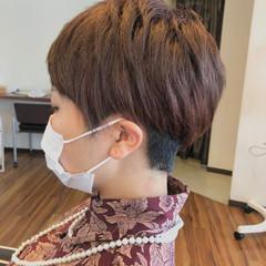 小顔ショート ナチュラル ベリーショート ショートボブ ヘアスタイルや髪型の写真・画像