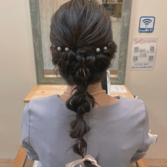 ヘアアレンジ ロング 編みおろしヘア 編みおろし ヘアスタイルや髪型の写真・画像