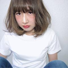 色気 ボブ フェミニン ナチュラル ヘアスタイルや髪型の写真・画像