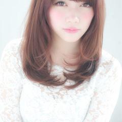 大人かわいい フェミニン ガーリー セミロング ヘアスタイルや髪型の写真・画像