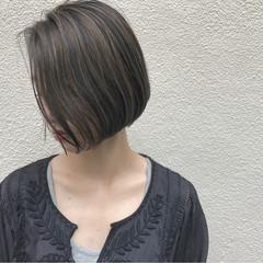 ハイライト ボブ ナチュラル ショートボブ ヘアスタイルや髪型の写真・画像
