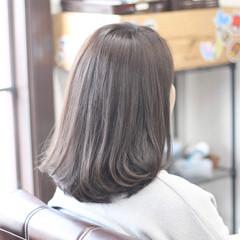 お手入れ簡単!! 外ハネ ナチュラル 透明感カラー ヘアスタイルや髪型の写真・画像