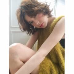 外国人風 透明感 ストリート ウェーブ ヘアスタイルや髪型の写真・画像