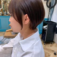 ショート ハンサムショート 小顔ショート ショートボブ ヘアスタイルや髪型の写真・画像