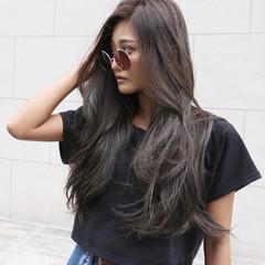 ハイライト デート グラデーションカラー ロング ヘアスタイルや髪型の写真・画像